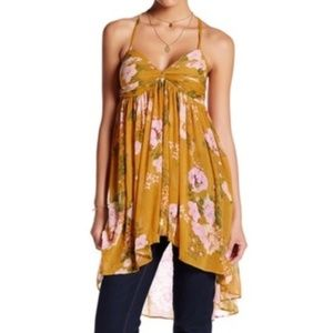 Free People Mirage Floral Tunic Tank NEVER WORN